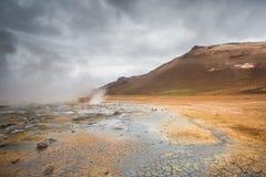 Volcanic landscape, Namafjall Hverir Iceland Stock Photo