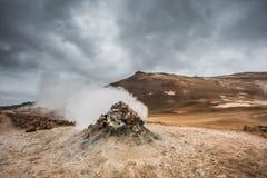 Volcanic landscape, Namafjall Hverir Iceland Royalty Free Stock Photos
