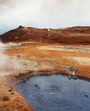 Volcanic landscape Namafjall, Iceland Stock Photos