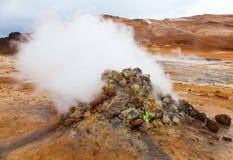 Volcanic landscape Namafjall, Iceland Royalty Free Stock Image