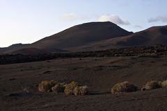 Volcanic landscape in national park Timanfaya Royalty Free Stock Image