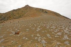 Volcanic Landscape on a Remote Island Stock Image