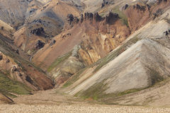 Volcanic landscape with rhyolite formations. Royalty Free Stock Photography