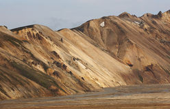 Volcanic landscape with rhyolite formations. Stock Photography