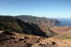 Volcanic landscape of Sandy Bay on St Helena royalty free stock photo
