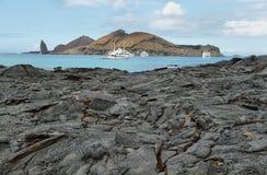 Volcanic landscape of Santiago island Royalty Free Stock Photo