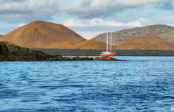 Volcanic landscape of Santiago island Royalty Free Stock Image