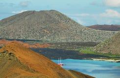 Volcanic landscape of Santiago island Stock Images