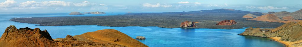 Volcanic landscape of Santiago island Royalty Free Stock Images