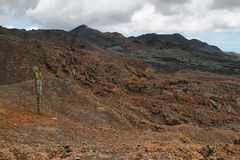 Volcanic landscape, Sierra Negra, Galapagos. Royalty Free Stock Photo