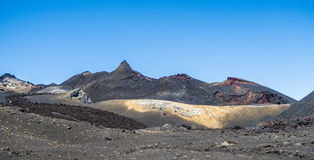 Volcanic landscape at Sierra Negra at the Galapagos islands in E Royalty Free Stock Photo