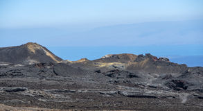 Volcanic landscape at Sierra Negra at the Galapagos islands in E Stock Image