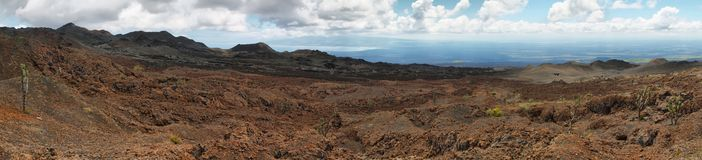 Volcanic landscape, Sierra Negra, Galapagos. Royalty Free Stock Image