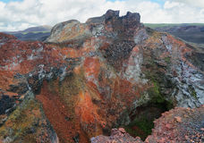 Volcanic landscape, Sierra Negra, Galapagos. Royalty Free Stock Photography