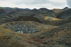 Volcanic landscape, Sierra Negra, Galapagos. Stock Photo