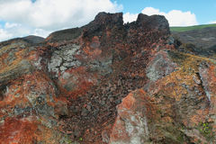 Volcanic landscape, Sierra Negra, Galapagos. Stock Images