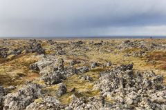 Volcanic landscape at the Snaefellsnes peninsula coast. Royalty Free Stock Images