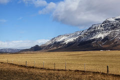 Volcanic landscape on the Snaefellsnes peninsula. In Iceland royalty free stock photo