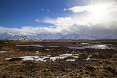 Volcanic landscape on the Snaefellsnes peninsula in Iceland Stock Photography