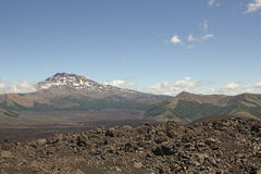 Volcanic landscape in southern Chile Royalty Free Stock Image