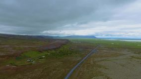 Volcanic landscape in Southern Iceland stock footage