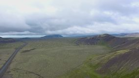 Volcanic landscape in Southern Iceland stock video footage