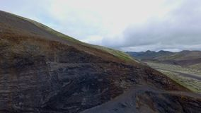 Volcanic landscape in Southern Iceland stock video
