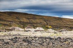 Volcanic landscape - stone and ash wasteland Royalty Free Stock Images