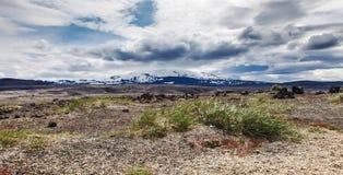 Volcanic landscape - stone and ash wasteland Stock Photos
