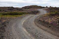 Volcanic landscape - stone and ash wasteland Stock Photo