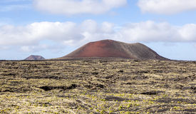 Volcanic landscape taken in Timanfaya National Park, Lanzarote Royalty Free Stock Image
