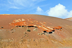 Volcanic landscape taken in Timanfaya National Park, Lanzarote, Royalty Free Stock Photos