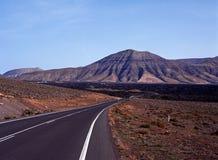 Volcanic landscape, Tamanfaya National Park. Royalty Free Stock Photo