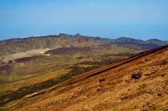 Volcanic landscape in Teide National Park Tenerife Stock Photo