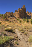Volcanic landscape in the Teide National Park on Tenerife Royalty Free Stock Photography