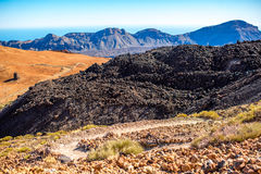 Volcanic landscape on Teide Royalty Free Stock Photography