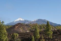 Volcanic Landscape. Teide Nationalpark - mountain peak - glacier - bright daylight - no people Stock Photography