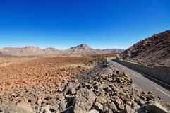 Volcanic landscape in Teide park, Tenerife, Canary Island, Spain. Stock Images