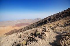 Volcanic landscape in Teide park, Tenerife, Canary Island, Spain Stock Image