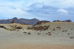 Volcanic landscape on Teide, Tenerife, Canary Islands, Spain Stock Photo
