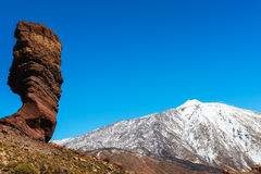 Volcanic landscape, Teide, Tenerife Royalty Free Stock Photography