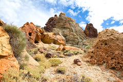 Volcanic landscape on Teide, Tenerife, Spain. Stock Photo