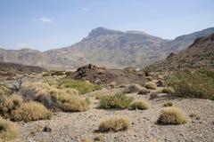 Volcanic landscape on Tenerife. Landscape of caldera of Teide volcano, Tenerife island, Canaries, Spain Royalty Free Stock Photos