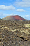Volcanic landscape in Timanfaya National Park, Lanzarote, Royalty Free Stock Photography