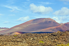 Volcanic landscape in Timanfaya National Park, Lanzarote, Stock Images
