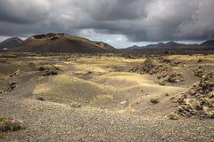 Volcanic landscape at Timanfaya National Park, Lanzarote Island, Royalty Free Stock Image