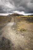 Volcanic landscape at Timanfaya National Park, Lanzarote Island, Stock Images