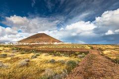 Volcanic landscape at Timanfaya National Park, Lanzarote Island, Stock Photo