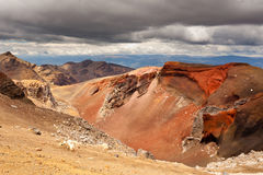 Volcanic landscape in Tonagriro NP New Zealand Royalty Free Stock Images
