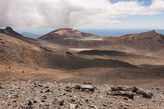 Volcanic landscape in Tongariro National Park Royalty Free Stock Photos
